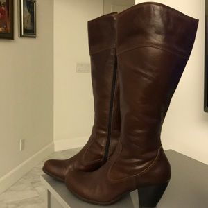 Born Concept Tall Brown Boots With Heel Size 9